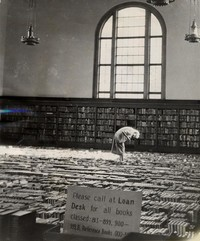 1948 Library: Books on Floor of Main Reading Room