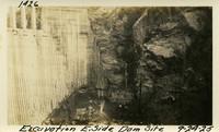 Lower Baker River dam construction 1925-09-24 Excavation E.Side Dam Site