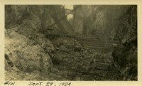 Lower Baker River dam construction 1924-09-29 View of canyon
