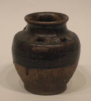 Jar with four small loop handles at shoulder