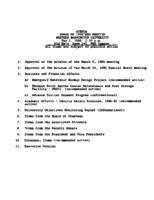 WWU Board minutes 1986 May