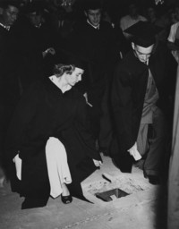 1949 Class Day: Placing Cards in Memory Walk