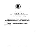 WWU Board minutes 1987 January