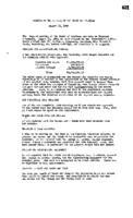 WWU Board minutes 1950 August