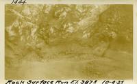 Lower Baker River dam construction 1925-10-04 Rock Surface Run El.387.5