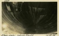 Lower Baker River dam construction 1925-10-22 Elbow under Intake Shaft