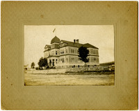 Sehome School, large four-story building at southeast corner of High and Laurel Streets, Bellingham, WA