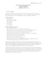 WWU Board of Trustees Meeting Records 2015 June