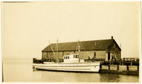 "Gasoline-powered fishing vessel ""Kenmore"" dockside"