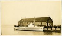 "Gasoline-powered fishing vessel ""Kenmore"" dockside"