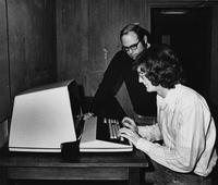 1974 Richard Fonda with Student at Remote Computer Terminal