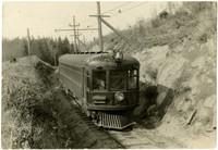 Interurban rail car on Seattle to Bellingham railway