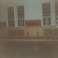 Blue Barnacles Swim Club, Members of the Blue Barnacles Swim Team Posing Pool Side