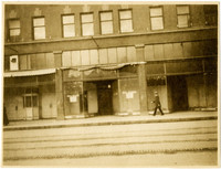 Row of vacant commercial spaces in McLeod Bldg, Elk (State) st, Bellingham, Washington