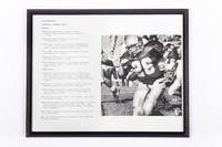 Football Photograph: Jon Brunaugh, Running Back, #26, honors and records, 1992/1995