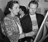 1949 Ruth Kelsey With Student
