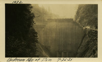 Lower Baker River dam construction 1925-07-26 Upstream Face of Dam