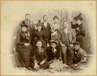 C.E. Taylor, Katherine Wardner and others, Squalicum, New Whatcom, 1893