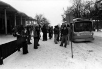 1970 Students at Bus Stop