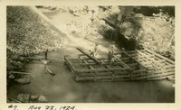 Lower Baker River dam construction 1924-08-22 Coffer dam