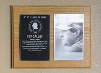 Hall of Fame Plaque: Les Galley, Baseball (Catcher), Class of 1990