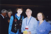 2007 Reunion--Marian Alexander, Jim Hildebrand and Tamara Belts at the Banquet