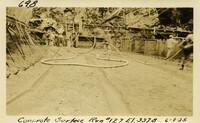 Lower Baker River dam construction 1925-06-08 Concrete Surface Run #127 El.337.8