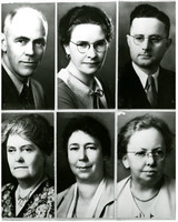 Composite of six formal portraits