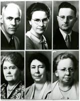 Composite of six formal portraits