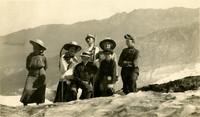 Hikers at Roosevelt Glacier