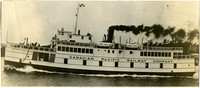 """Canadian Pacific Railway Company diesel ferry """"Motor Princess"""" with passengers on deck"""
