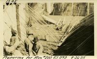 Lower Baker River dam construction 1925-08-26 Preparing for Run #200 El.393