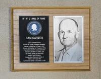 Hall of Fame Plaque: Sam Carver, Administrator, Coach, Class of 1968