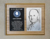 Hall of Fame Plaque: Sam Carver, Administrator, Coach, Class of 1968