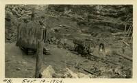 Lower Baker River dam construction 1924-09-19 Excavation site at dam site