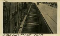 Lower Baker River dam construction 1925-07-21 E. Wall above 4th Floor