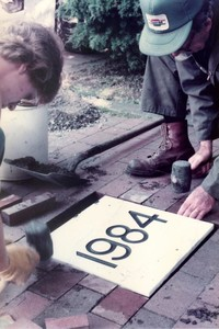 1984 Memory Walk: Marble Installation
