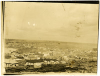 Vista of rooftops of early Bellingham, WA, from Sehome Hill