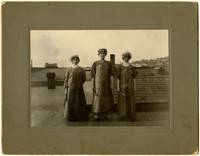Clara Weaver, Florence Pettibone and Carrie Salvo atop Pacific American Fisheries rooftop
