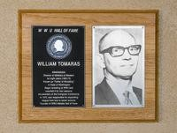 Hall of Fame Plaque: William Tomaras, Administrator, Class of 1978