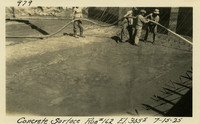 Lower Baker River dam construction 1925-07-15 Concrete Surface Run #162 El.3055