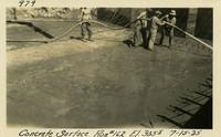 Lower Baker River dam construction 1925-07-15 Concrete Surface Run #162 El.3055
