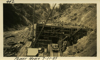 Lower Baker River dam construction 1925-07-11 Power House