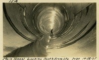 Lower Baker River dam construction 1925-10-22 Main Tunnel Looking South from Sta 7+20