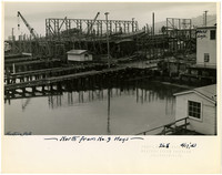 Construction of Northwestern shipyard, Bellingham, WA