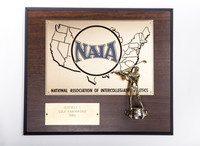 Golf (Men's) Plaque: NAIA District 1 Champions, 1986