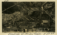 Lower Baker River dam construction 1925-05-29 Erection of Wooden Trusses
