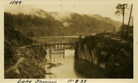 Lower Baker River dam construction 1925-11-08 Lake Shannon (with railroad trestle)