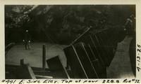 Lower Baker River dam construction 1925-04-13 E. Side Elev Top of Pour 228.8 Run #72