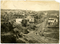 Fairhaven district, looking eastward down angle made by railroad and  Harris Avenue from top of Dead Man's Point